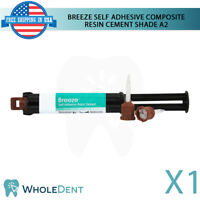 Breeze Self Adhesive Composite Resin Cement Dental 7.8g Shade A2 Syringe