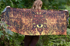 Sarong Scarf Fox Totem Wearable Art, Jungle Pashmina Festival beach Gypsy
