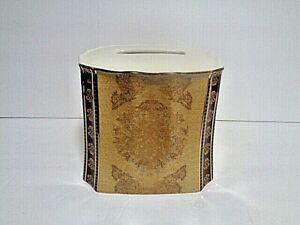 Croscill Townhouse Bath, Ceramic Tissue Box Cover