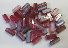 40 Pink & Purple 2 Tone Rectangle Acrylic Beads BNIP For Jewellery Making TTB06