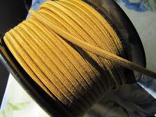 Gold Cloth Wire Rockola Wurlitzer Seeburg Jukebox 2 Conductor 18 Gauge Sold Foot