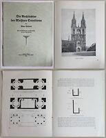 Hübner Die Architektur der Meißner Domtürme 1927 Gotik Sachsen Ortskunde xz