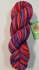 Mirasol Shirapa #701 Hand Dyed Merino Red Purple Pink Orange Mix 50g