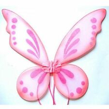 Pink Adult Tinkerbell Pixie Butterfly Fairy Wings Dress Up Girls Costume