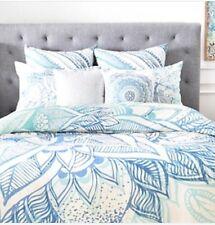 Deny Designs Rosebudstudio Lovely Soul Floral Blue F/Q Duvet Cover/ Sham Set New