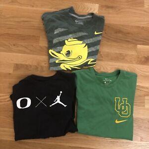 Lot Of 3 NIKE TEE Oregon Ducks NCAA Mens  Medium Green Dri-Fit T-Shirt Football