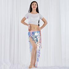 Belly Dance Hip Scarf  Sequins rock dance Costume Festival Wrap Skirt shake sway