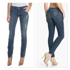 Hudson Jeans Collin Flap Skinny Jeans Vintage Napoli Distressed denim sz 25