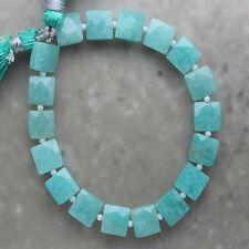 Amazonite Faceted Square 8mm Semi-Precious Gemstone