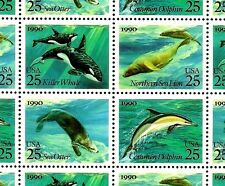 1990 - SEA ANIMALS - #2508-11 Full Mint -MNH- Sheet of 40 Postage Stamps