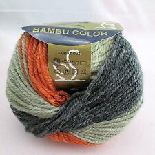 Lot 5 Muti brown 65% Cashmere Bamboo knitting Yarn worst