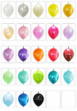 100pcs Link-o-Loons Latex Balloons Arch Pearl Assorted PARTY Birthday Wedding