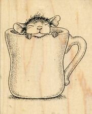 Warm Cup  HMV04  House Mouse  Stampendous Rubber Stamp  w/m  Free Shipping  NEW