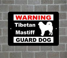 Tibetan Mastiff warning GUARD DOG breed metal aluminum sign