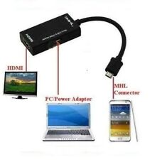 MHL MICRO USB a HDMI Hd Tv Cable adaptador Samsung Galaxy S2 & Note N7000