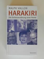 Ralph Vallon Harakiri Die Selbstzerstörung einer Partei Molden FPÖ