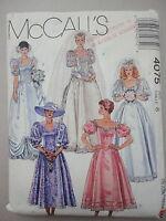 McCalls 4075 Bride Bridesmaid Formal Dress Gown sz 8 UNcut 1988 Sewing Pattern