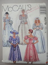 McCalls 4075 Bride Bridesmaid Formal Dress Gown sz 8 UNcut 1988 Sewing Pattern