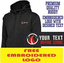 Personalised Embroidered  Hoodie DRIVING SCHOOL workwear UNIFORM LOGO