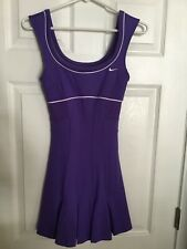 NIKE Serena Williams Sleeveless Dri Fit Tennis Dress Purple Pleats XS
