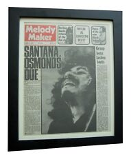 CARLOS SANTANA+MELODY MAKER RARE ORIGINAL 1972+POSTER+FRAMED+EXPRESS+GLOBAL SHIP