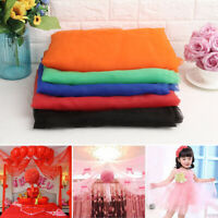1x1.5M Organza Fabric Voile Tulle Chiffon Crystal Cloth Wedding Party Decor New