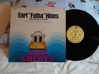 "EARL ""FATHA"" HINES AND HIS ALL-STARS . HALL OF FAME JAZZ GREATS LP"