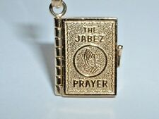 14K YELLOW GOLD JABEZ PRAYER BOOK PENDANT CHARM - OPENS UP TO PRAYER