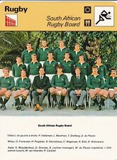 Rugby team photo card sheet south africa 1977