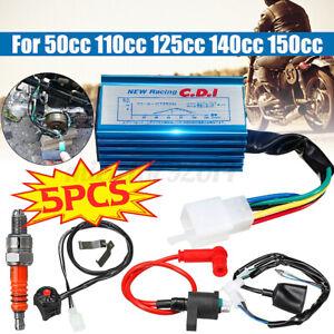 CDI Wiring Loom Kill Switch Coil Spark Plug Kit For 50-150cc Dirt Pit Bike& ATVs