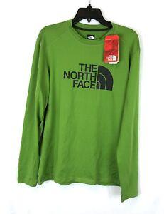The North Face Men's Long Sleeve Green Rash Guard , Size L
