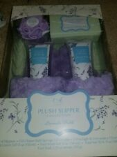 NEW Adonna Plush Slipper Collection - Lavender Fields Size Large 9-10
