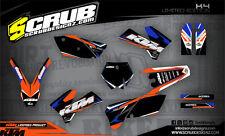 SCRUB KTM EXC 125 250 300 450 525 2005-2007  '05 - '07 Grafik Dekor-Set