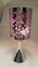 Fragrance ** Stainless Steel Table Touch Lamp Butterfly (Purple) Silver color