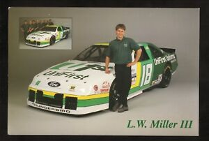 NASCAR Busch/Grand National Series--1995 Large Card Schedule--Unifirst Uniforms
