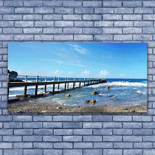 Impression sur verre acrylique Image Tableau 140x70 Paysage Mer Plage