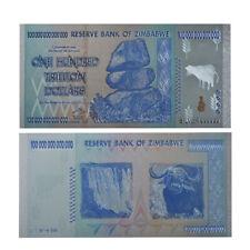 RHCN 1pc $100 One Hundred Trillion Dollar Zimbabwe Silver Banknote Set  Rock COA