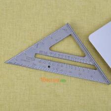 "1PC 7"" Metal Metric Inch 90°  45° Square Triangle Measuring Ruler Carpenter Tool"