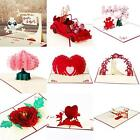 3D Greeting Card Pop Up Paper Cut Happy Birthday Wedding Valentine' Day card