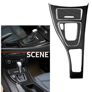 Real Carbon Fiber Gear Shift Panel Cover For BMW 3 Series E90 E92 E93 2005-12 AA