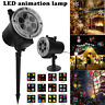 12Pattern LED Moving Laser Projector Landscape Stage Light Xmas Party Outdoor US