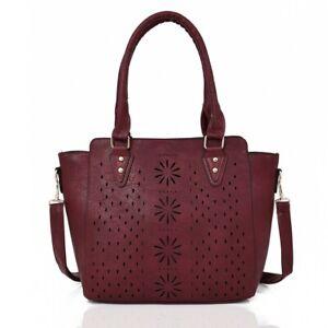 Damentasche  Handtasche  Schultertasche  Umhängetasche Tasche  Fb. Fuchsia  5361