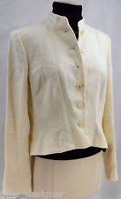 Lauren Ralph Lauren 100% Linen Blazer CROP suit jacket dress coat lined 12P NEW