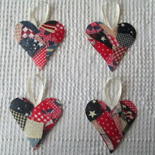 AB26 Heart Ornaments Upcycled from Modern Fabric & Wallpaper Samples