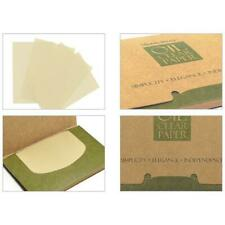 100 Sheets Womens Oil Control Blotting Paper Makeup Facial Cleaner Tissue F