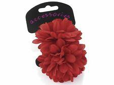 Large Red Flower Ponio Hair Elastics Hair Bands Headbands Bobbles