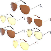 Sunglasses Polycarbonate Lenses Classic Aviator Style 100% UV400 Driving Lens