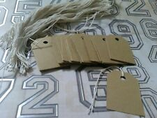 100 Rustic Brown 85lb Card Stock Price Tags Gift Tags With String Unstrung