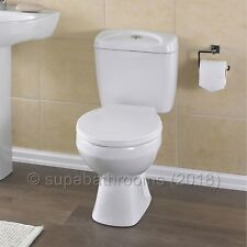 Melbourne Ceramic Close Coupled WC Toilet Pan, Cistern & Seat