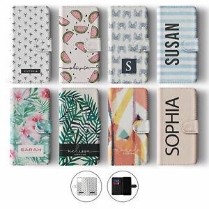 Tirita Personalised Wallet Flip Case for iPhone 12 11 SE 8 Palm Tree Leaf Crab